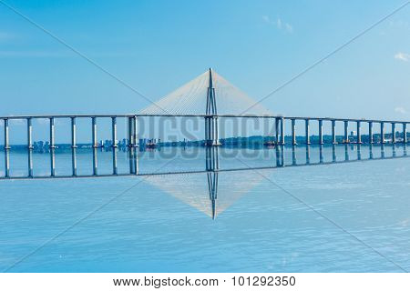 Rio Negro Bridge in Manaus, Amazon Brazil