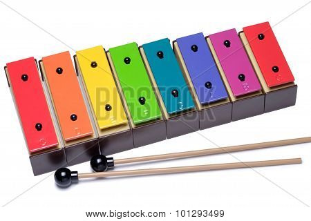 Colorful Xylophone Isolated On White Background.
