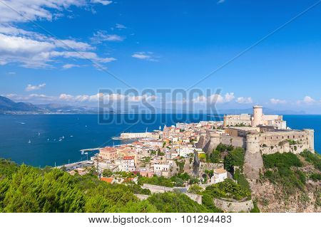 Ancient Aragonese-angevine Castle In Old Gaeta