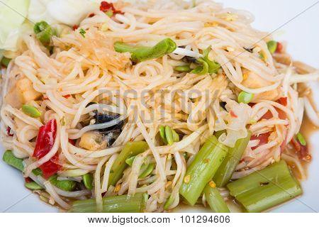 Green Papaya Spicy Salad Thai Style