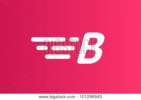 Fast line B letter line logo. B and lines monogram. Vector B line letter. B letter design. Abstract B letter. Round lines. B line symbol. Thin line style. Transport delivery B motion icon