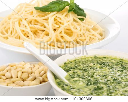 Pasta Collection - Spaghetti With Pesto Sauce
