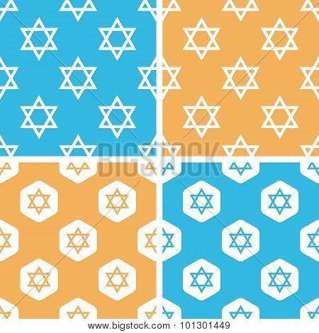 David Star pattern set, colored