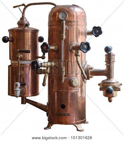 Old Metallic Coffee Maker.