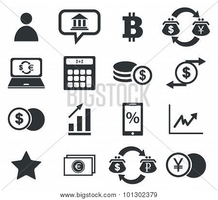 Finance icon set , simple