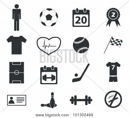 Sport icon set, simple