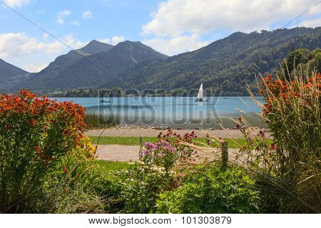 Spa Gardens Schliersee Lake Shore And Mountain View