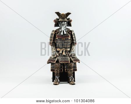 The Samurai Worrior  Statue  Of Japan Which Made From Wood