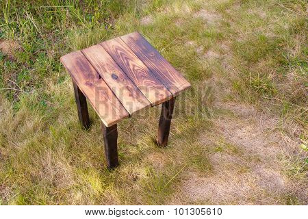 Hand made burnt wooden table