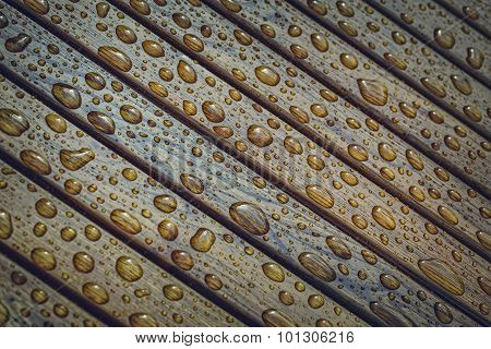 Raindrops On Wood
