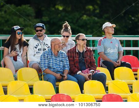 Spectators On Tribune