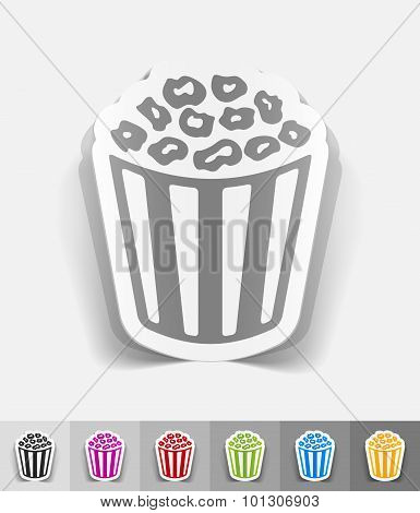 realistic design element. pop corn