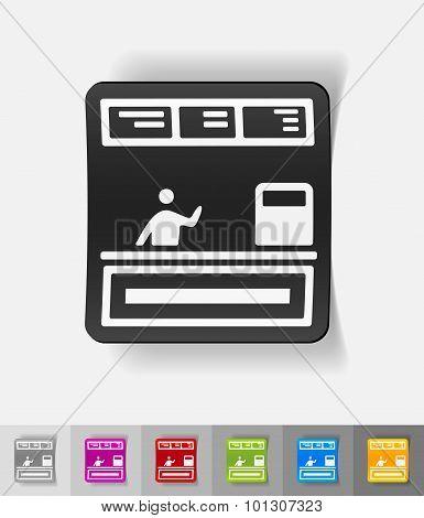 realistic design element. cash desk