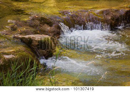 Mountain Creek With Little Cascade, Golden Water
