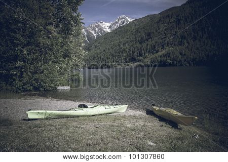 Two Kayaks McDonald Lake Montana