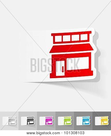 realistic design element. shop