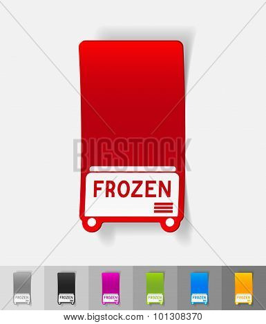 realistic design element. freezer