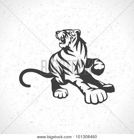 Tiger logo emblem template mascot symbol