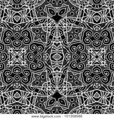 Black And White Geometric Tribal Pattern