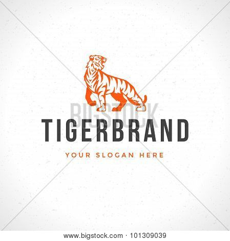 Vintage Tiger Logotype or mascot emblem