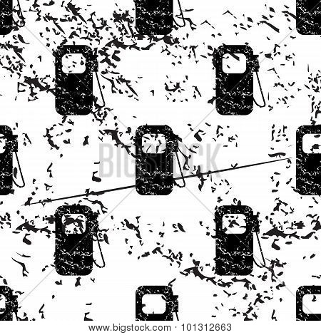 Gas pump pattern grunge, monochrome