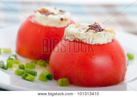 Stuffed Tomatos With Goat Cheese