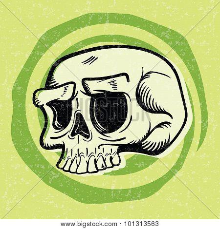 Retro Halloween Skull
