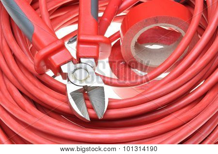 Cutting tool and cables