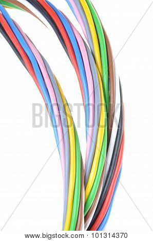 Multicolored electrical cable
