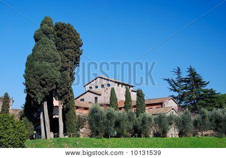 Palatin Ruins On Palatin Hill, Rome