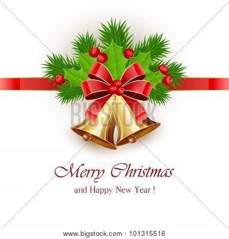 Christmas Bells And Ribbon