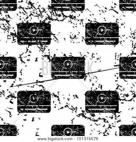 Mediaplayer window pattern, grunge, monochrome
