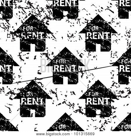 Rental house pattern, grunge, monochrome
