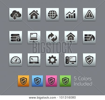 Web Developer Icons The vector file includes 5 color versions for each icon in different layers ----