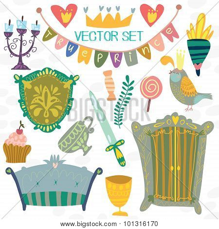Cute Vector Party Set- True Prince