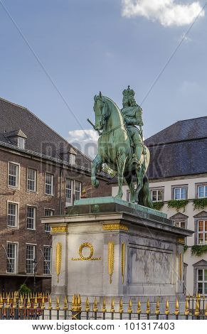 Statue Of Jan Wellem, Dusseldorf, Germany