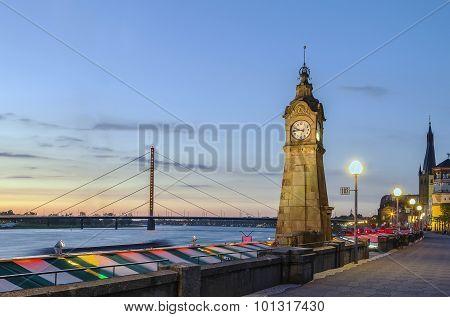 Embankment In Dusseldorf, Germany