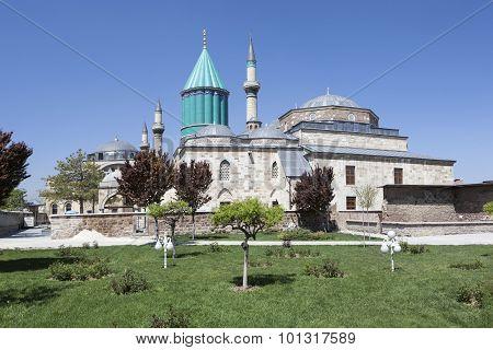 Mausoleum of Mevlana (Rumi) in Konya. Turkey.