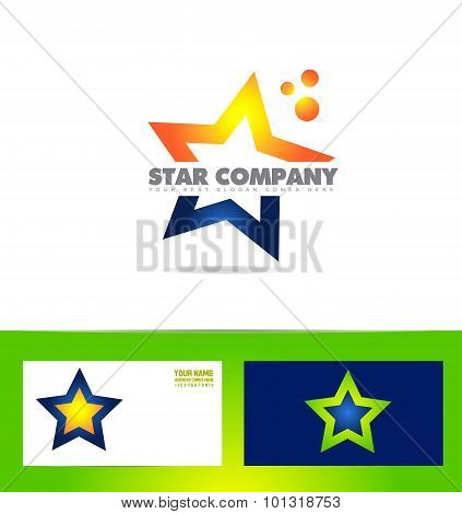 Star Logo Company Icon Set
