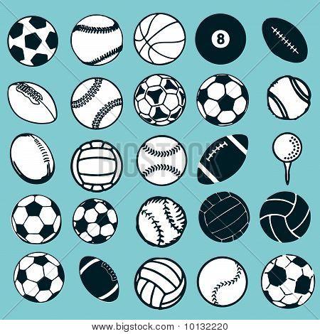Set de vectores de deportes de pelota