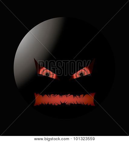 halloween evil face lighting Left