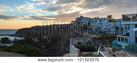 Panorama Dana Point at Sunset