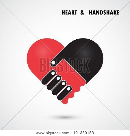 Creative Handshake And Heart Shape