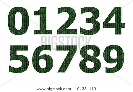 Matrix pattern on number