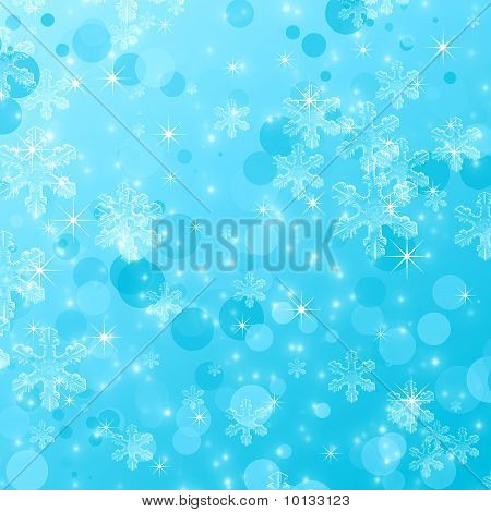 Blue Snowflake Abstract Background