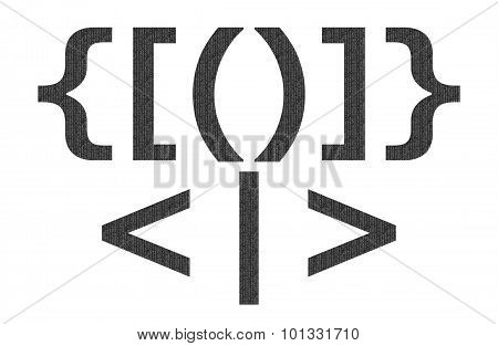 Black matrix pattern on english character