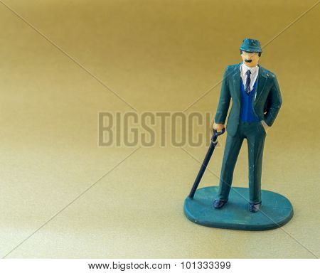 Single Business Man Miniature Toy