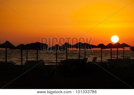 sea sunset shot in Montenegro at Ada Bojana