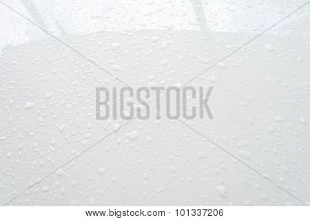Close Up Raindrops On Windows Of Car
