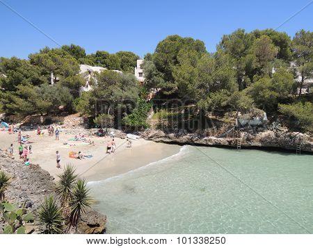 People At The Beach Cala Serena, Mallorca
